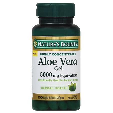 Nature's Bounty Aloe Vera Gel 5,000 mg Softgels - 100 ea