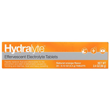Hydralyte Effervescent Tablets - 0.12 oz. x 20 pack
