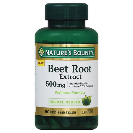 Nature's Bounty Beet Root Extract 500 mg Capsules - 90 ea