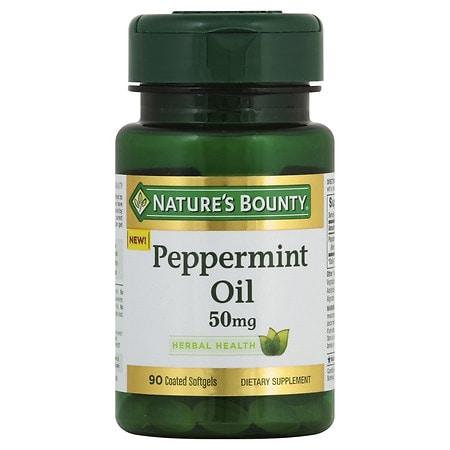Nature's Bounty Peppermint Oil 50 mg Coated Softgels - 90 ea