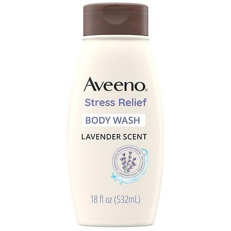 Aveeno Stress Relief Body Wash With Lavender & Chamomile - 18 fl oz