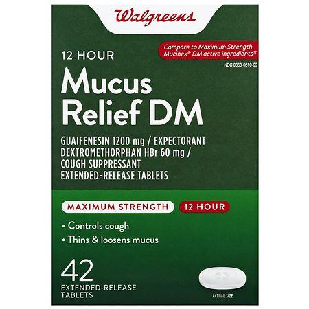 Walgreens Mucus DM Max 1200 mg Tablets - 42 ea