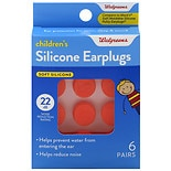 Walgreens Children's Silicone Earplugs Orange