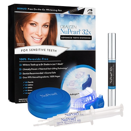 Oralgen NuPearl 32x Advanced Teeth Whitening System Peroxide-Free with Pen - 1 ea