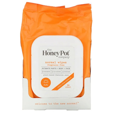 The Honey Pot Normal Intimate Wipes - 30 ea