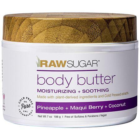 Raw Sugar Living Body Butter Pineapple + Maqui Berry + Coconut - 7 oz.