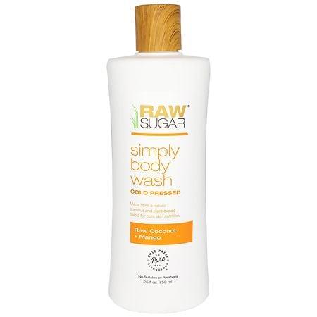 Raw Sugar Living Body Wash Raw Coconut + Mango - 25 oz.
