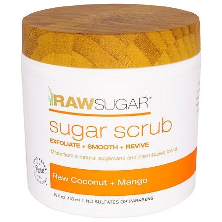 Raw Sugar Living Sugar Scrub Raw Coconut + Mango - 15 oz.