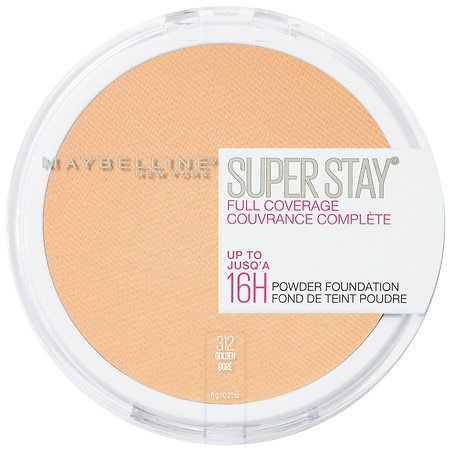 Maybelline SuperStay Full Coverage Powder Foundation Makeup, Matte Finish - 0.21 OZ