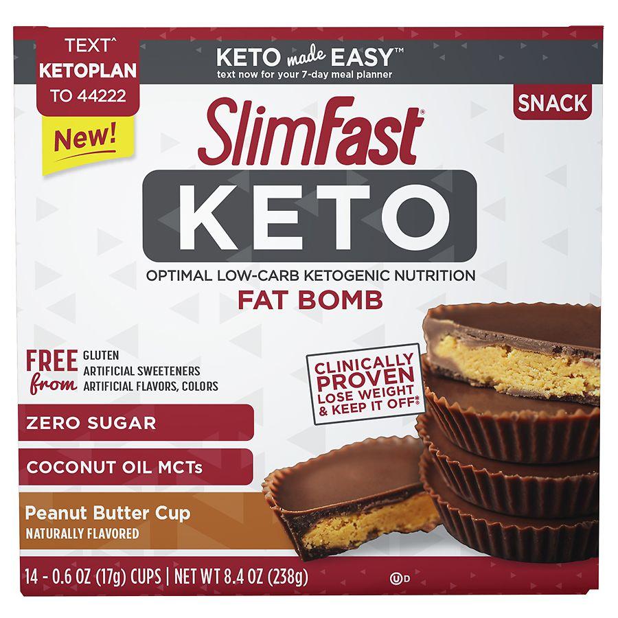 SlimFast Keto Fat Bomb Peanut Butter