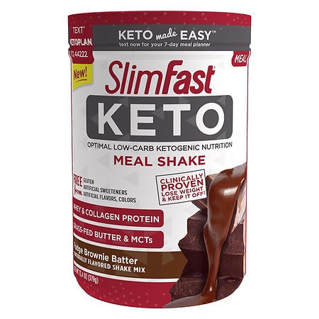 SlimFast Keto Meal Shake Fudge Brownie Batter - 13.4 oz.