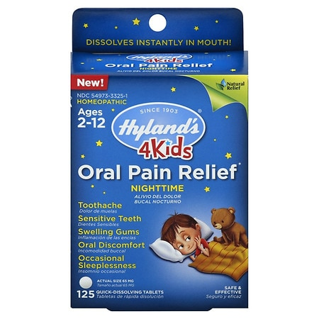 Hyland's Kids Oral Pain Relief Night - 125 ea