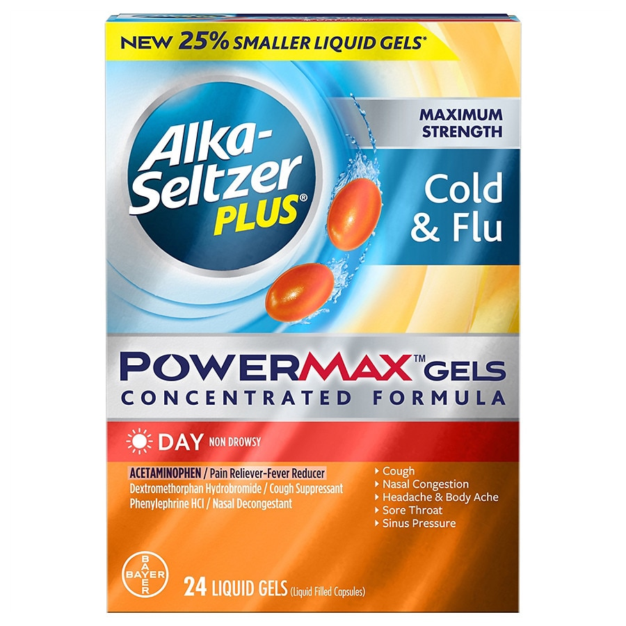 Alka-Seltzer Plus Maximum Strength Cold & Flu PowerMax Gels