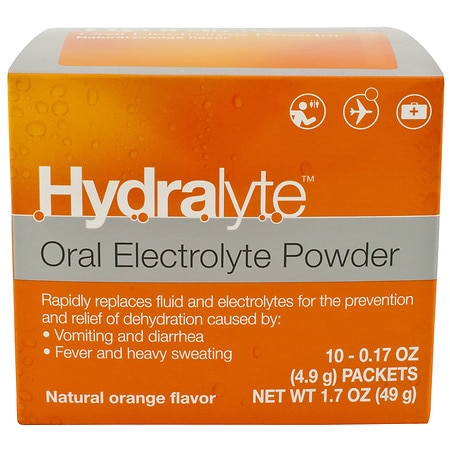 Hydralyte Oral Electrolyte Powder - 0.17 oz. x 10 pack