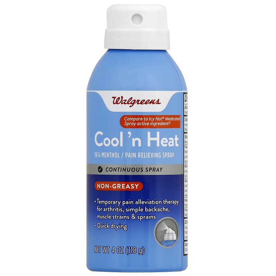 Walgreens Cool N Heat Pain Relieving Spray Walgreens