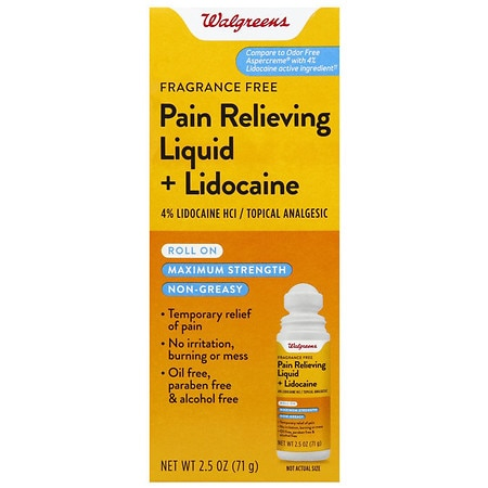 Walgreens Maximum Strength Pain Relief Roll-On Liquid - 2.5 oz.