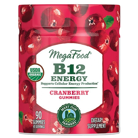 MegaFood MF Gummies - B12 Energy Cranberry - 90 ea