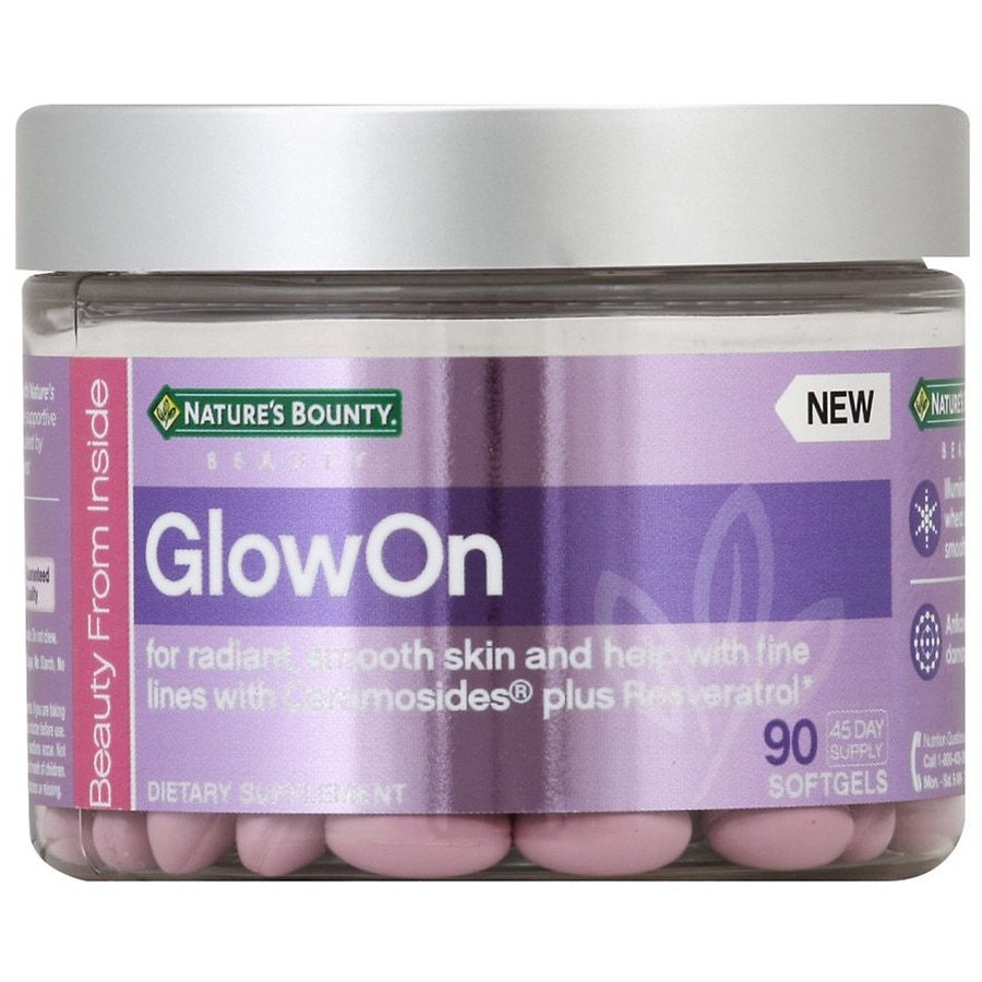 Nature's Bounty Beauty GlowOn Softgels