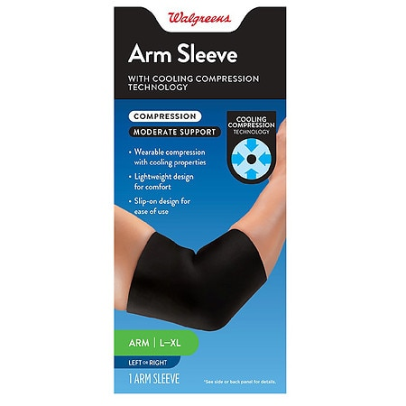 Image of Walgreens Compression Cooling Arm Sleeve L XL Large-XLarge - 1 ea