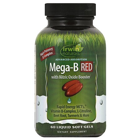 Irwin Naturals Advanced Absorption Mega B RED with Nitric Oxide Booster - 60 ea