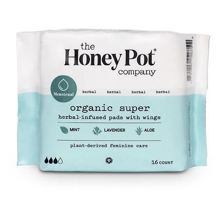 The Honey Pot Super Herbal Menstrual Pads - 16 ea