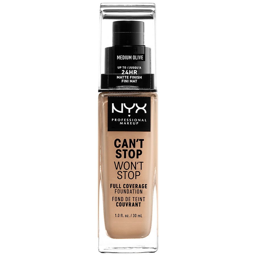 NYX Professional Makeup Can't Stop Won't Stop Full Coverage Foundation, Medium Olive1.0 fl oz