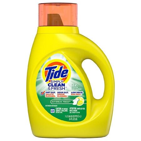 Tide Simply Clean & Fresh Liquid Laundry Detergent Daybreak Fresh - 34 fl oz