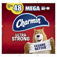 36-Pk Charmin Ultra Strong Toilet Paper Mega + 6-Pk Soft Rolls