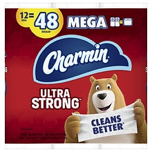 12 Count Charmin Ultra Strong Toilet Paper Mega Rolls