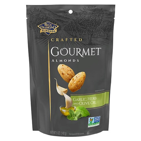 Blue Diamond Crafted Gourmet Almonds Garlic, Herb And Olive Oil - 5 oz.