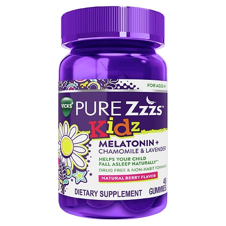 PURE Zzzs Kidz Melatonin + Chamomile & Lavender Sleep Aid Gummies for Children and Kids - 48 ea