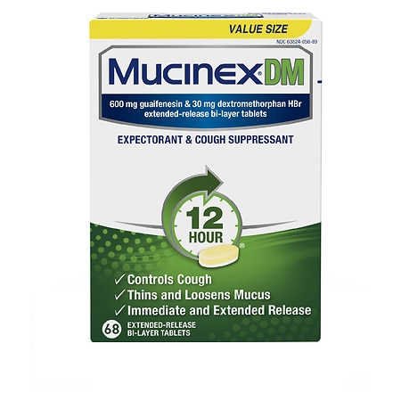 MucinexDM Extended-Release Bi-Layer Tablets - 68 ea
