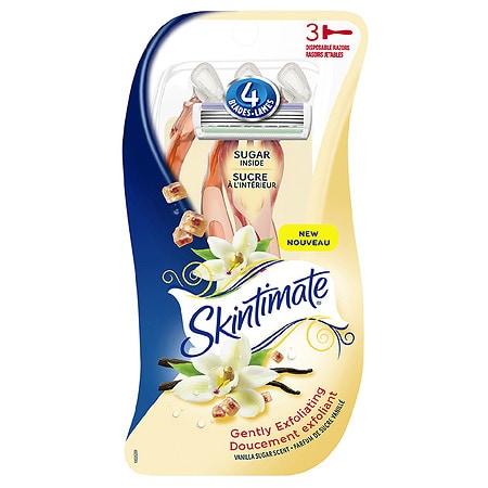 Schick Skintimate Vanilla Sugar Disposable Razor - 3 ea