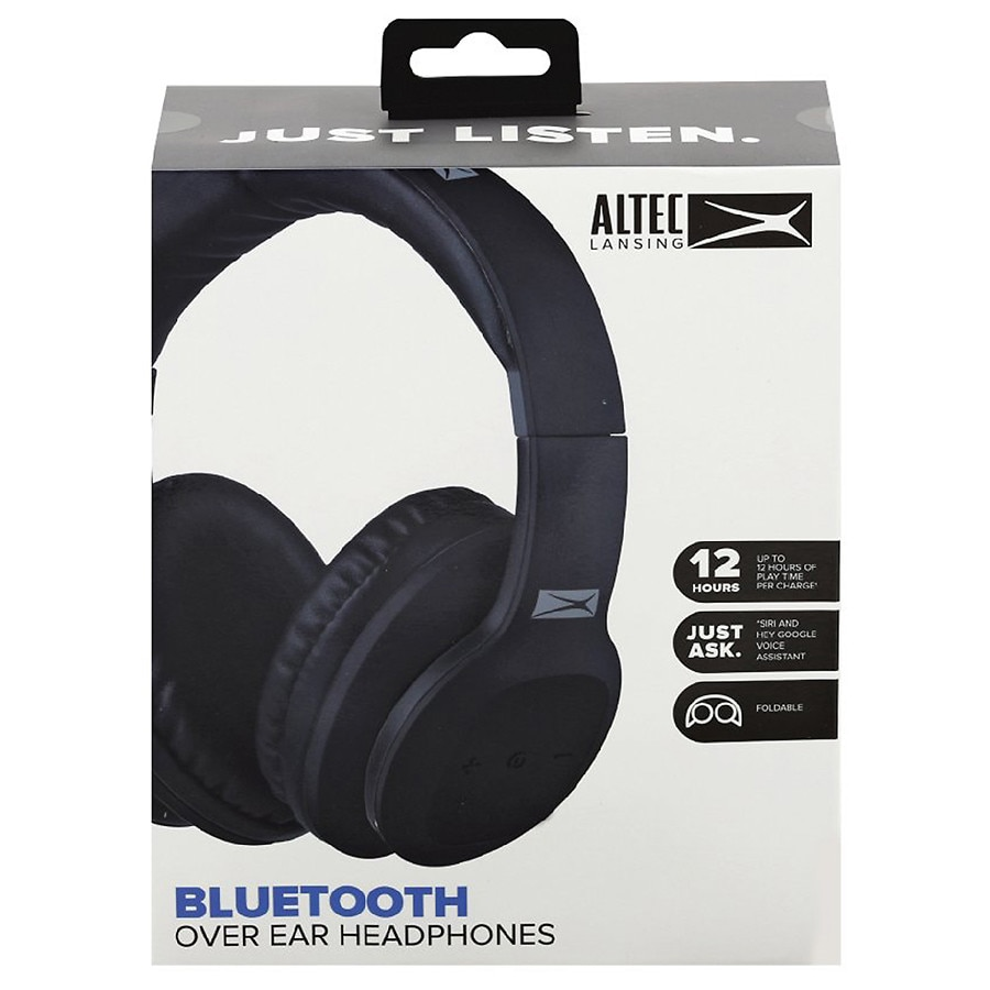 Altec Lansing Bluetooth Over Ear Headphones Black   Walgreens