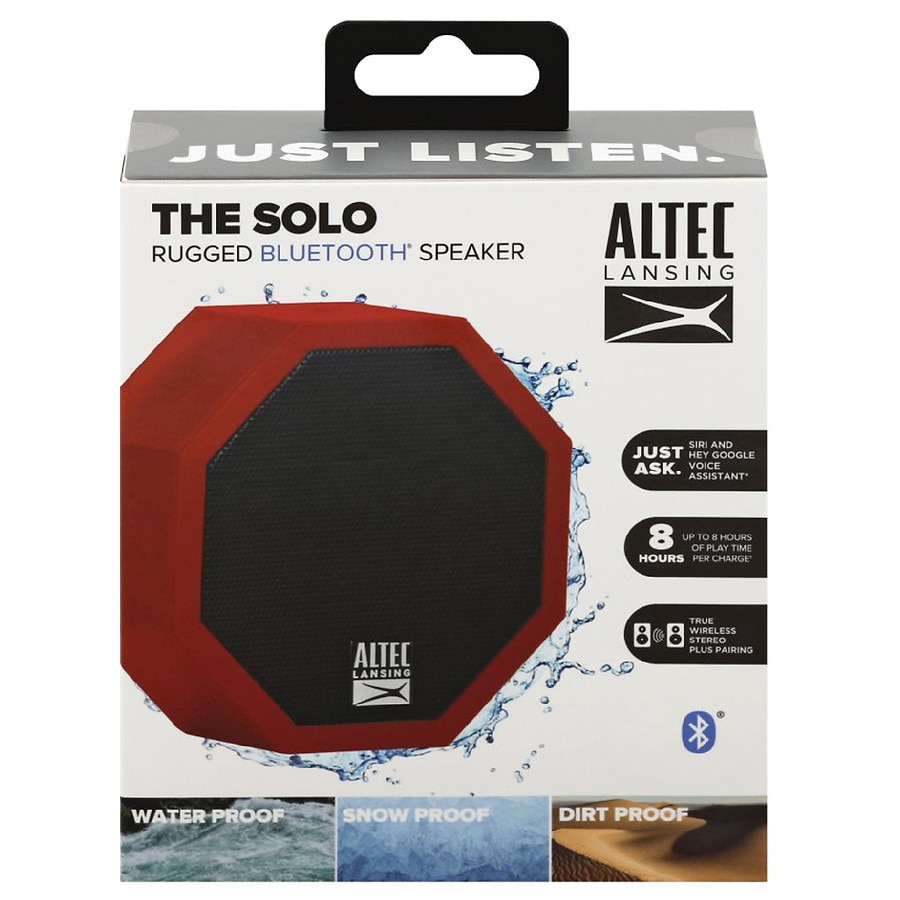 Altec Lansing The Solo Rugged Bluetooth Speaker Dark Red   Walgreens