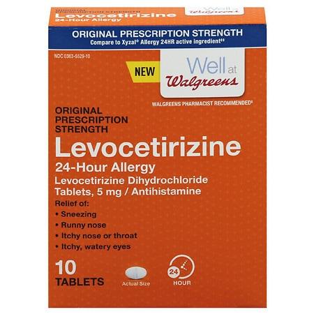 Walgreens Levocetirizine Dihydrochloride Tablets - 10 ea