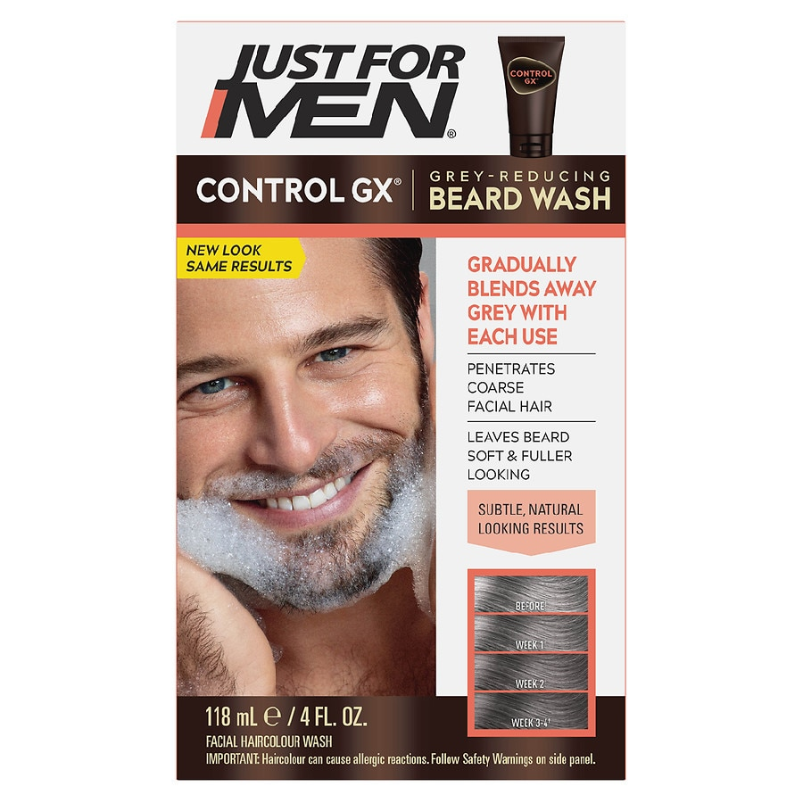 fc757869e6d Just For Men Control GX Beard Grey Reducing Wash4 oz