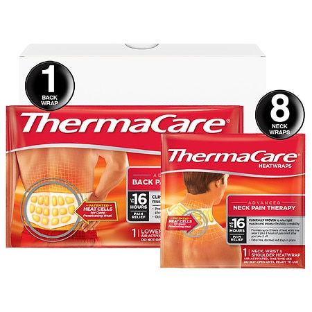 ThermaCare Advanced Neck Pain & Back Pain Therapy Combo Pack Heatwraps Large-XLarge - 1 ea