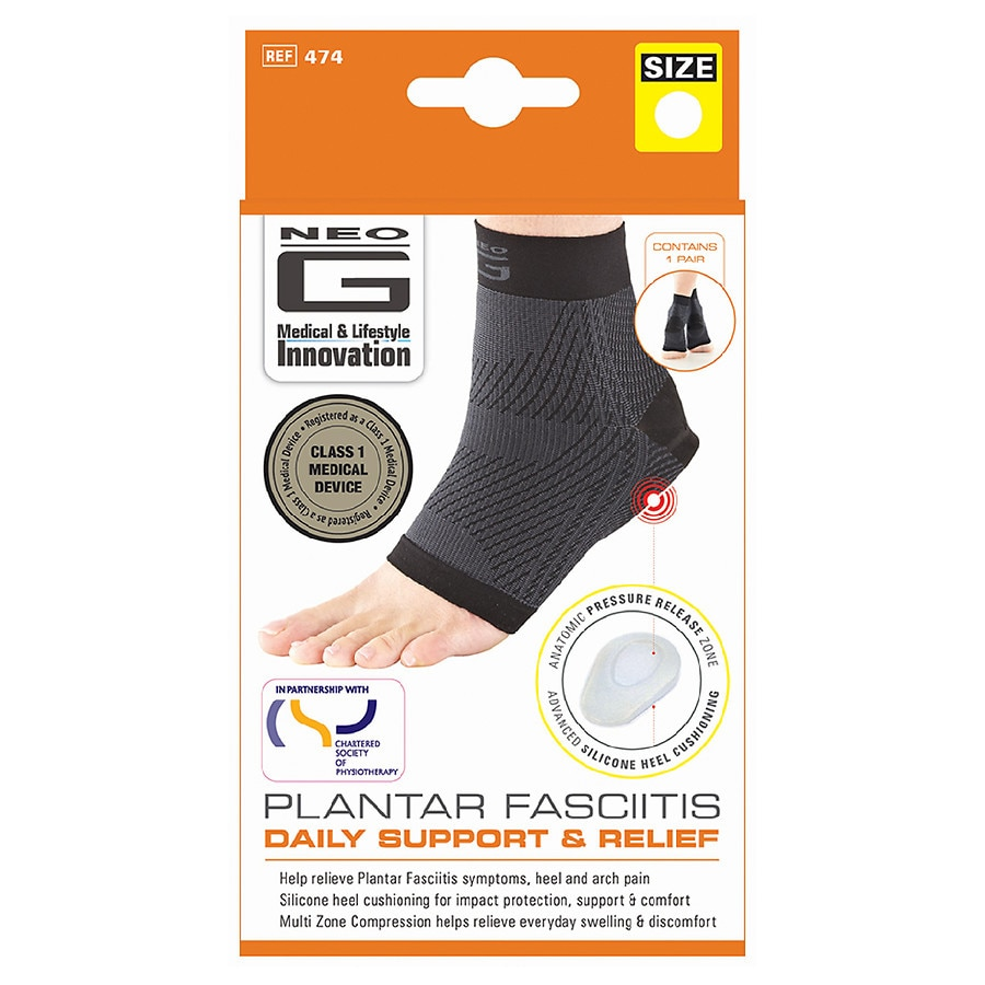 44aa84dedd Neo G Plantar Fasciitis Daily Support and Relief Large | Walgreens