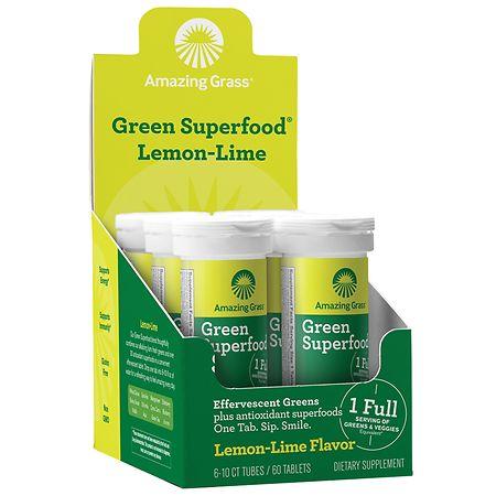 Amazing Grass Effervescent Lemon Lime - 10 ea x 6 pack