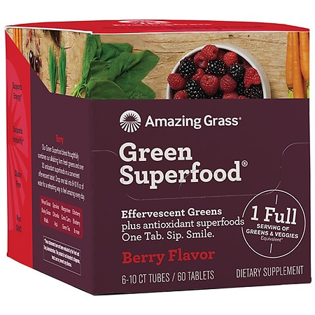 Amazing Grass Effervescent Berry - 10 ea x 6 pack
