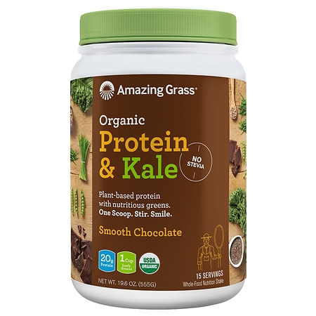 Amazing Grass Protein & Kale Smooth Chocolate - 19.6 oz.