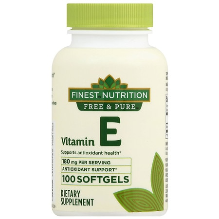 Finest Free & Pure Vitamin E 400 IU Softgels - 100 ea