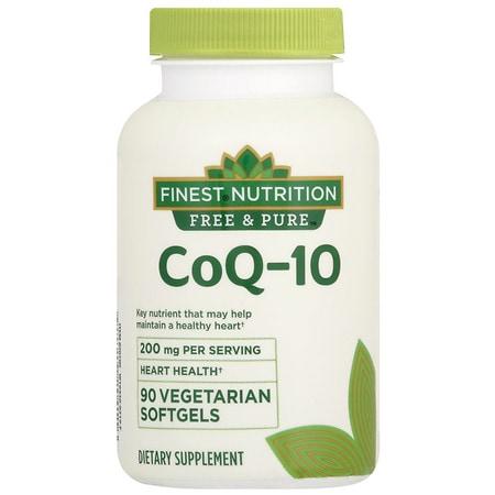 Finest Free & Pure Co Q-10 - 90 ea