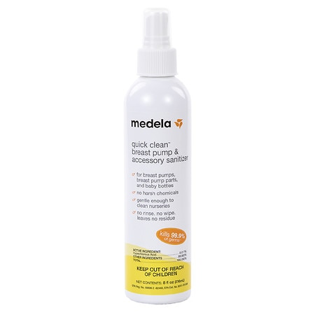 Medela Quick Clean Breast Pump & Accessory Sanitizer Spray - 8 fl oz
