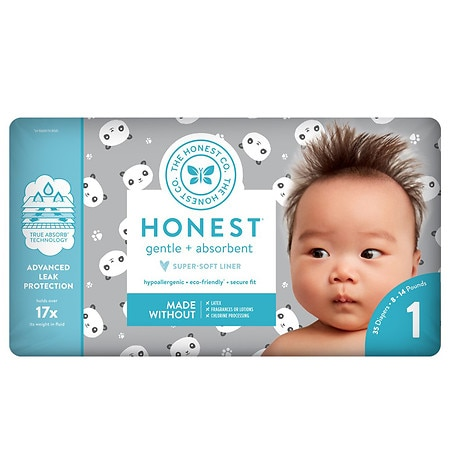 Honest Diapers, Pandas Size 1 - 35 ea