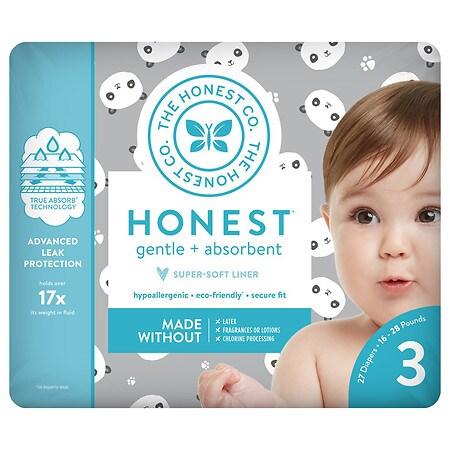 Honest Diapers, Pandas Size 3 - 27 ea