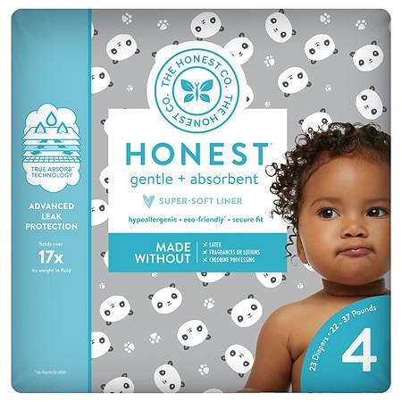 Honest Diapers, Pandas Size 4 - 23 ea