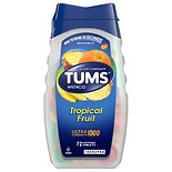 Tums Antacid Chewable Tablets for Heartburn Relief, Ultra Strength Tropical Fruit