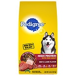 Pedigree High Protein with Red Meat Adult Dog Food Beef & Lamb Flavor